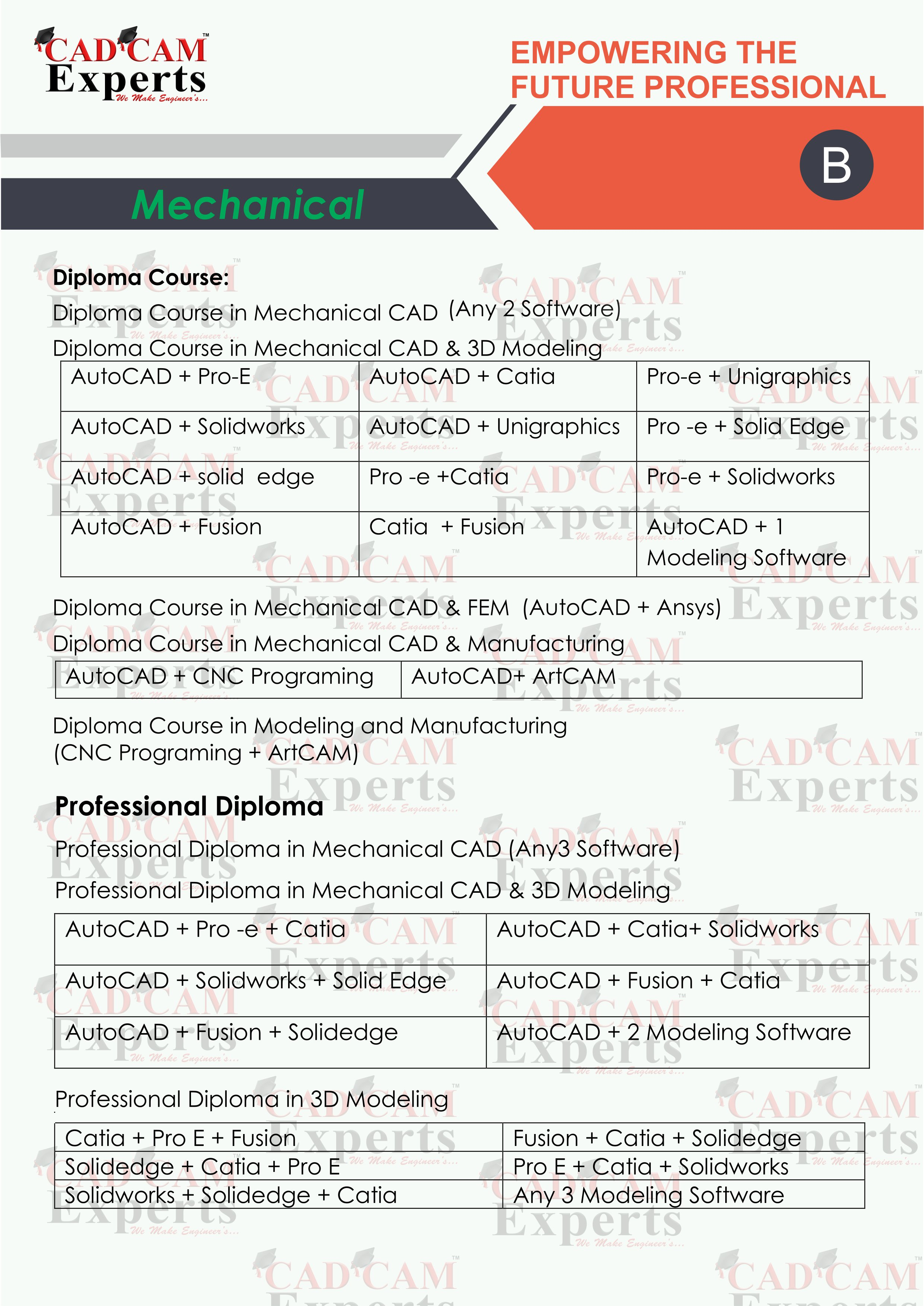 CAD TRAINING | AutoCAD | Pro/e |creo | Catia | Ansys